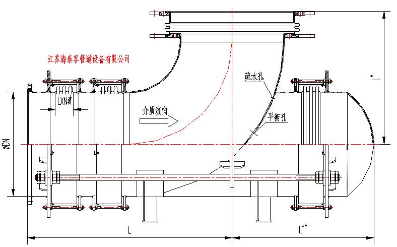 wp弯管压力平衡性膨胀节结构